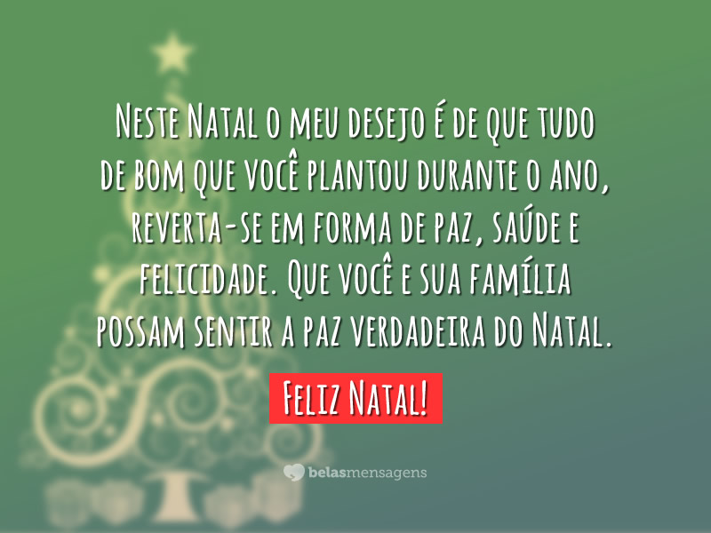 Foto Mensagem de Feliz Natal 40